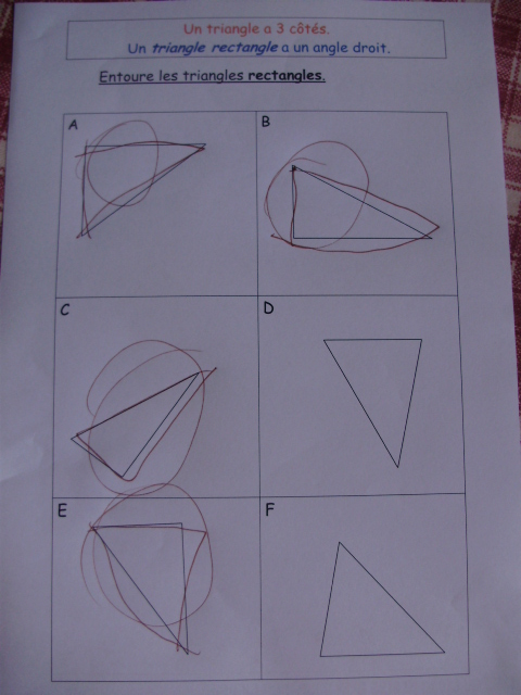 dessin de trois hauteure d un triangle