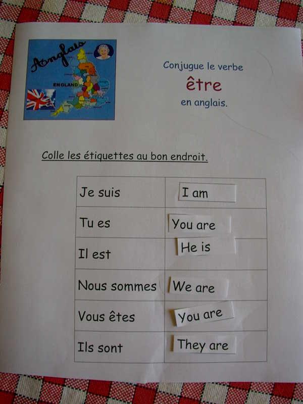 Anglais Conjugaison Le Petit Roi Enfant Autiste