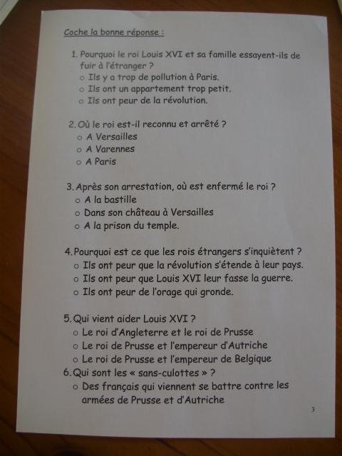 documents révolution française cm2