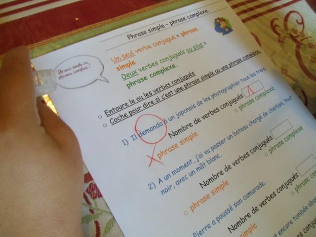 exercice phrase simple et phrase complexe