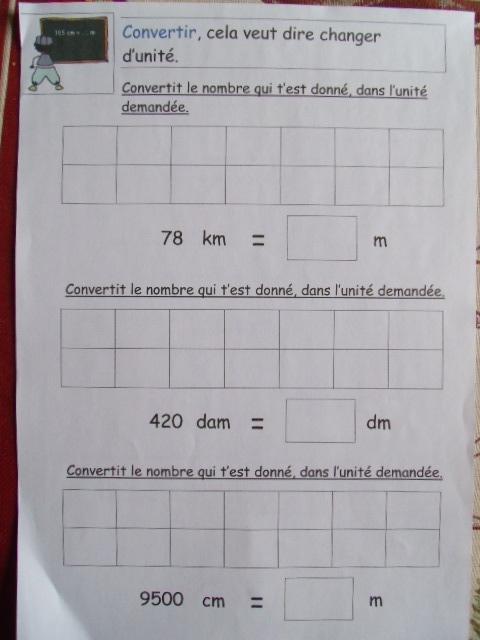 unités de longueur ce2 exercices