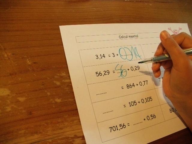 leçon quotient décimal cm2