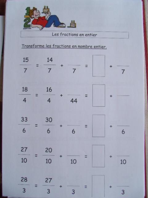 Comment apprendre les fractions en cm1