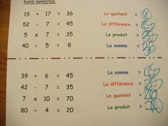 Vocabulaire Des Operations Le Petit Roi Enfant Autiste